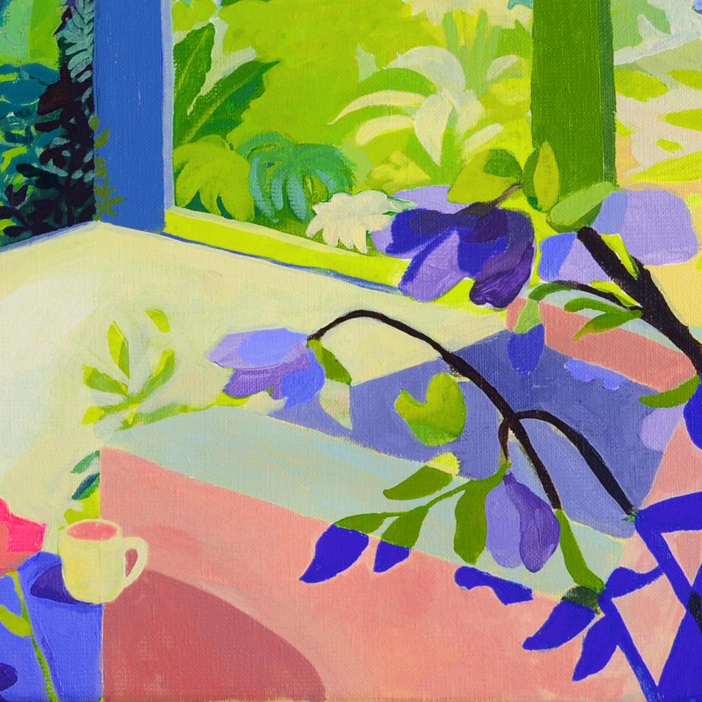 Schilderij - de tuin van pake